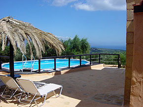 Villa Eva - the fabulous pool and view